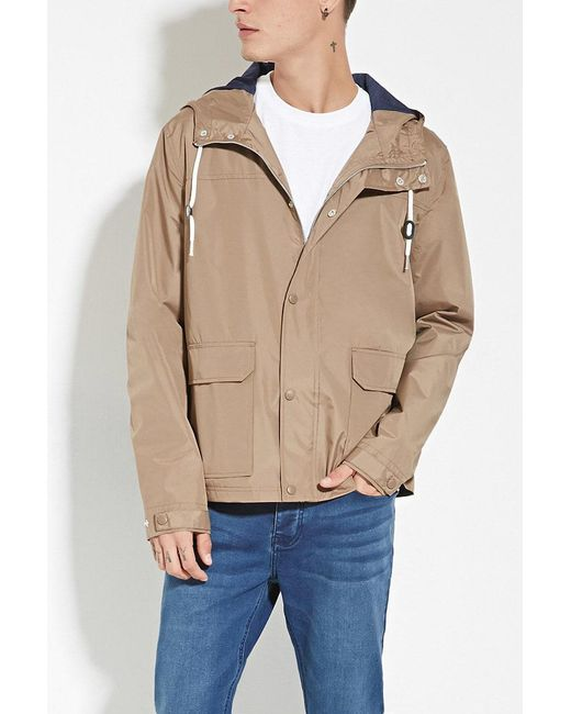 Forever 21 | Multicolor Zip-up Hooded Windbreaker for Men | Lyst