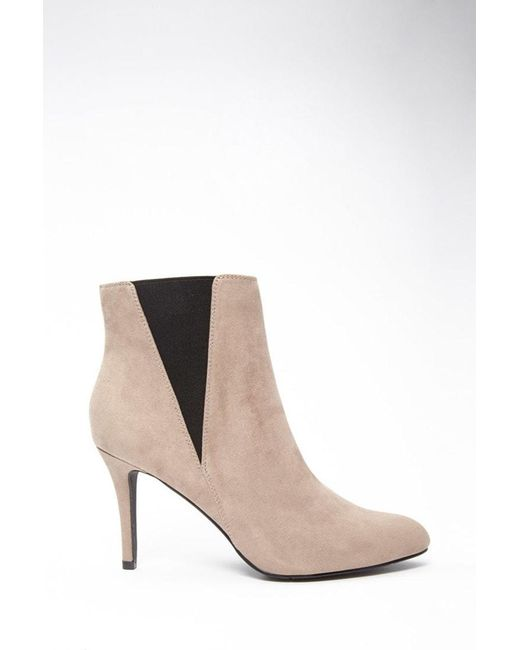 Forever 21 - Gray Faux Suede Ankle Booties - Lyst