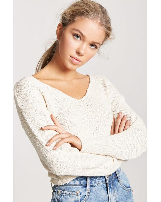 Forever 21 Sweater Knit Top Lyst