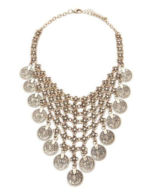Forever 21 | Metallic Medallion Statement Necklace | Lyst