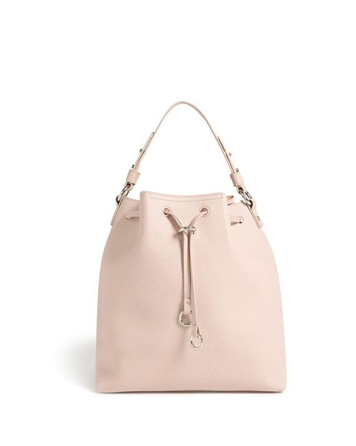 Forever 21 - Natural Faux Leather Bucket Bag - Lyst