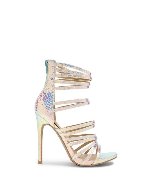 3eb890d8c0 Forever 21 - Metallic Shoe Republic Caged Iridescent Heels - Lyst ...