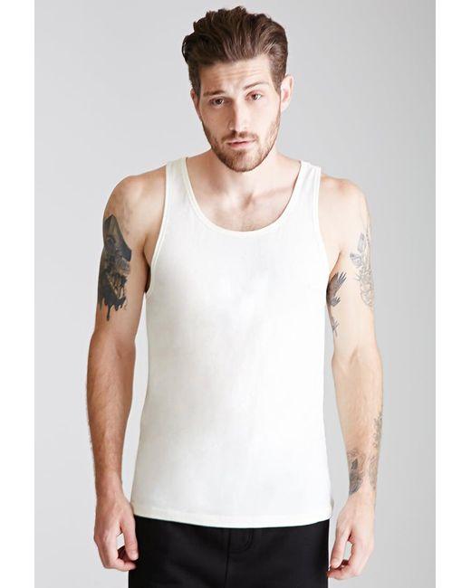 Forever 21 | Natural Flecked Knit Tank for Men | Lyst