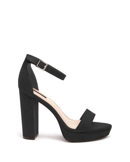 Forever 21 - Black Faux Suede Ankle-strap Platform Heels - Lyst