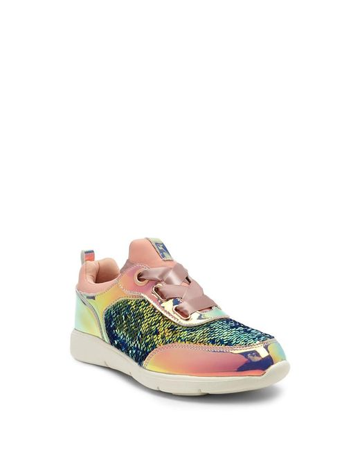 1417ed3ad162 ... Forever 21 - Pink Sequined Low-top Sneakers - Lyst