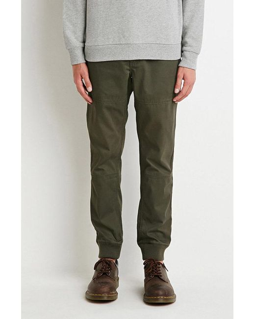 Forever 21 - Green Paneled Chino Joggers for Men - Lyst