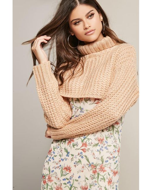 Forever 21 | Purple Cropped Turtleneck Sweater | Lyst