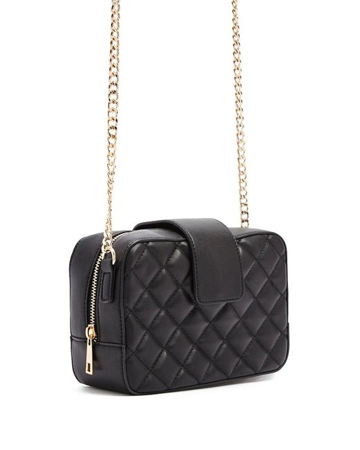 Forever 21 - Black Quilted Faux Leather Crossbody - Lyst