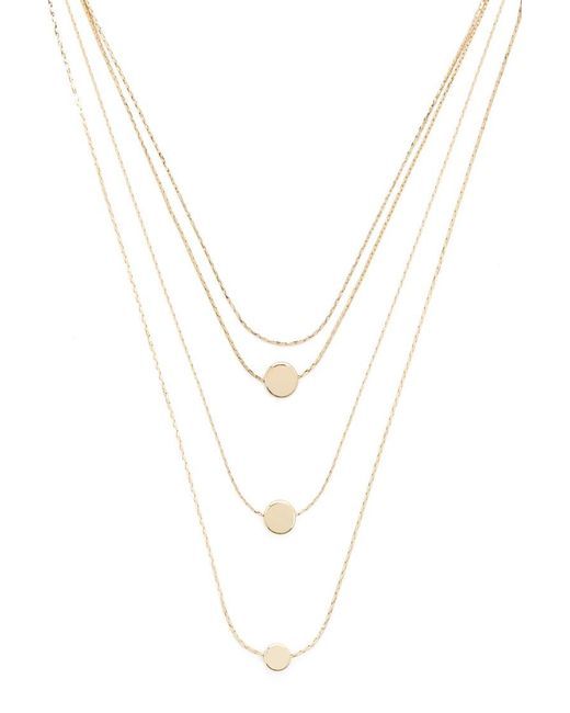 Forever 21 - Metallic Circle Pendant Necklace Set , Gold - Lyst