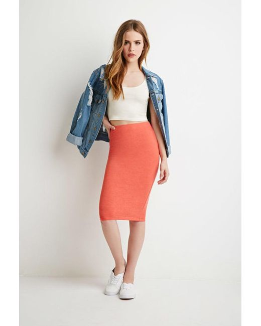 Forever 21 - Multicolor Heathered Pencil Skirt - Lyst