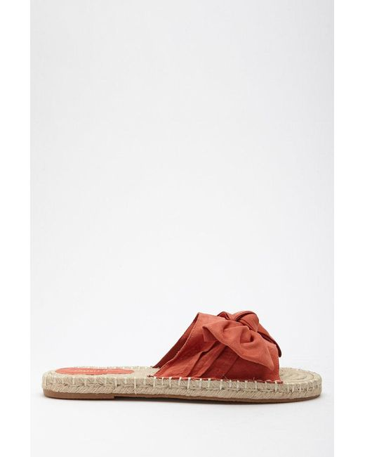 Forever 21 - Red Bow Espadrille Slides - Lyst