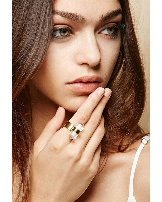 Forever 21 - Metallic Amber Sceats Translucent Ring - Lyst