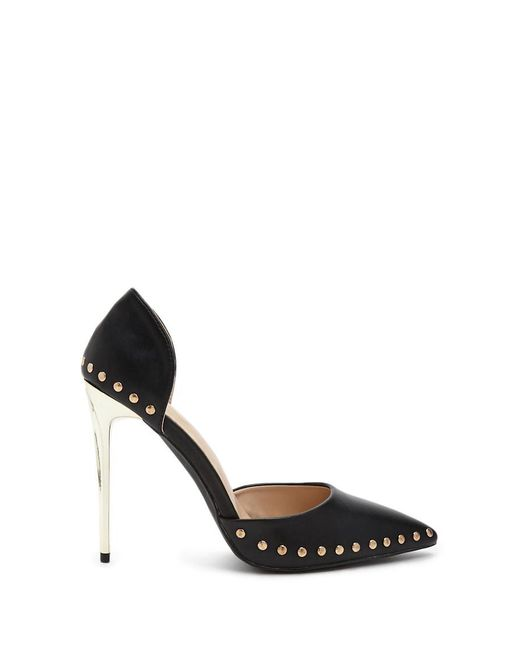 Forever 21 - Black Studded Faux Leather Pumps - Lyst