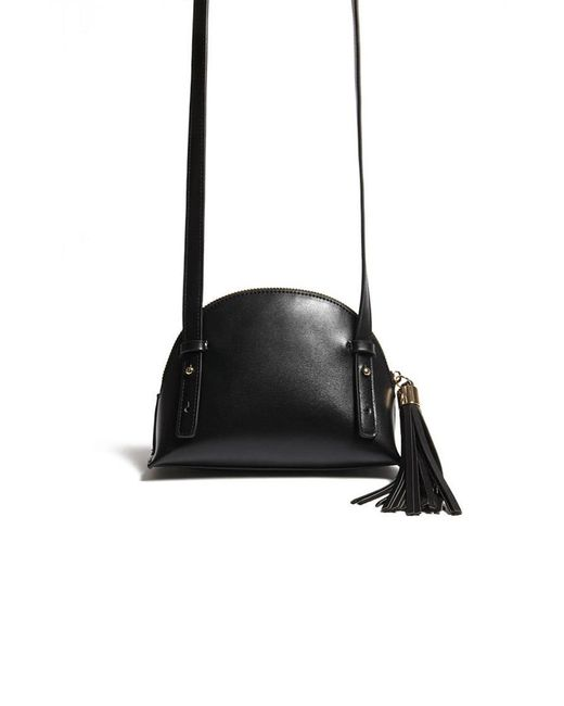 Forever 21 - Black Half Moon Crossbody Bag - Lyst