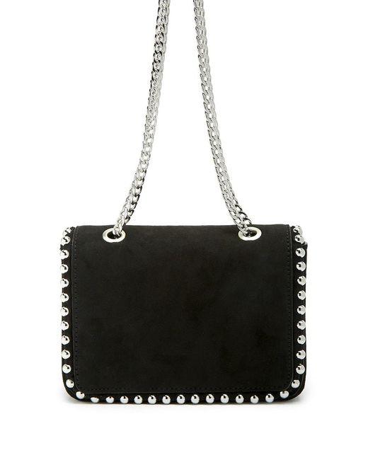 Forever 21 - Black Faux Suede Studded Shoulder Bag - Lyst