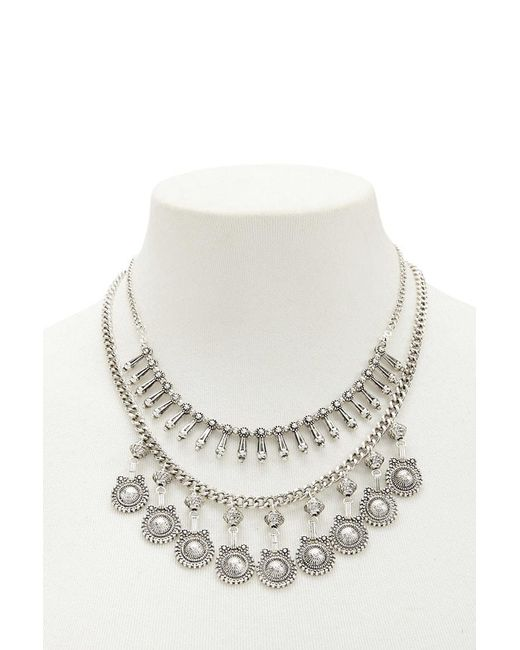 Forever 21 - Metallic Layered Burnished Statement Necklace - Lyst