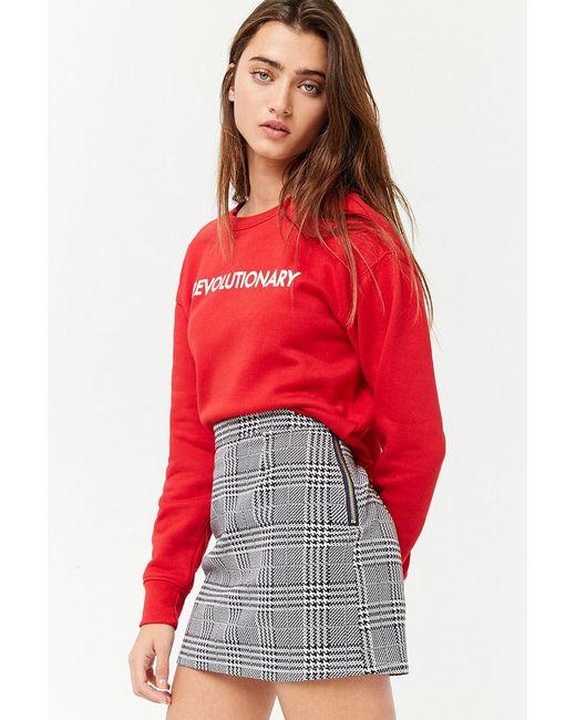 Forever 21 - Blue Houndstooth Mini Skirt - Lyst