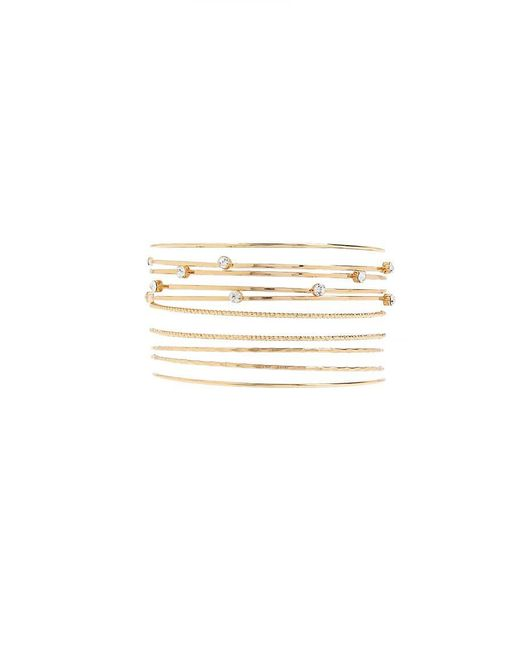 Forever 21 | Metallic Rhinestone Bangle Set | Lyst