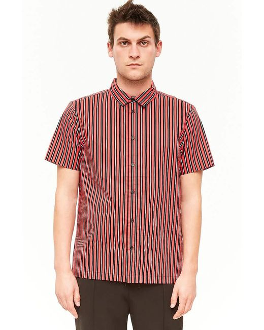 Forever 21 - Red Striped Button-front Shirt for Men - Lyst