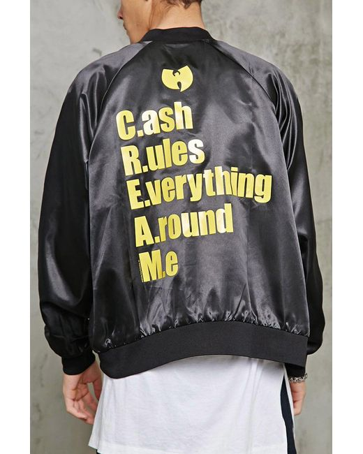 Forever 21 | Black Wu-tang Graphic Satin Jacket for Men | Lyst