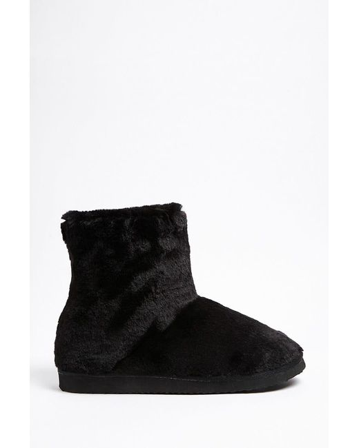 Forever 21 | Black Faux Fur Boots | Lyst