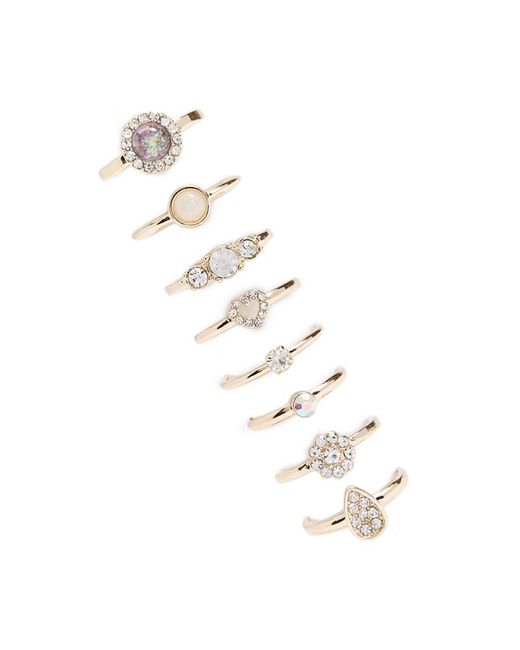Forever 21 - Metallic Faux Gem & Rhinestone Ring Set - Lyst