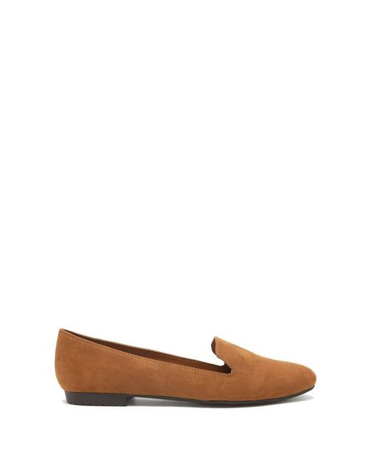 Forever 21 | Brown Faux Suede Loafers | Lyst