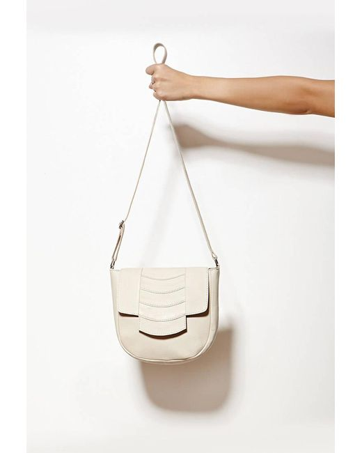 Forever 21 | Natural Collina By Collina Strada Cora Leather Crossbody | Lyst