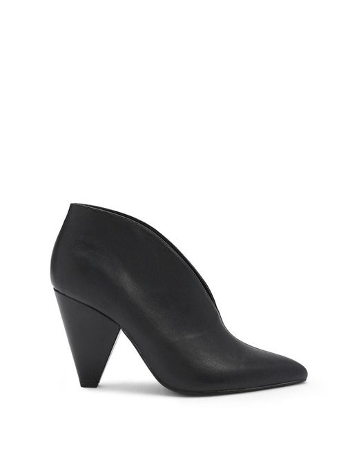 Forever 21 - Black Notched Cone-heel Booties - Lyst