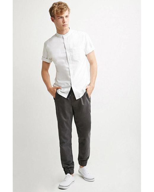 Forever 21 - Gray Zip-pocket Chino Joggers for Men - Lyst