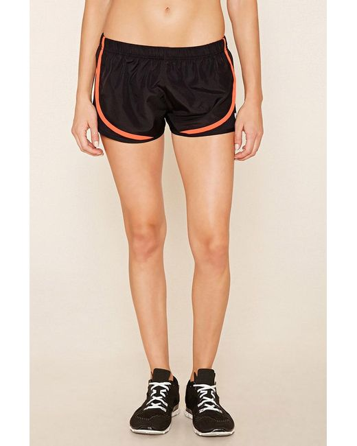 ... Forever 21 | Black Active Mesh-panel Shorts | Lyst