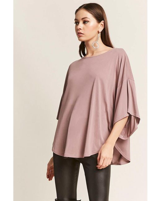 Lyst Forever 21 Heathered Knit Top In Purple