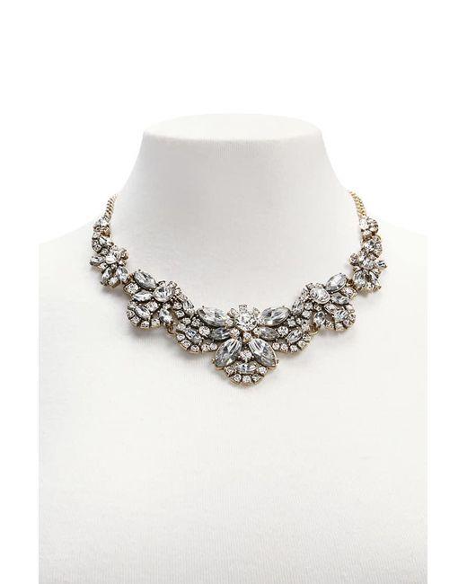 Forever 21 | Metallic Diamante Bib Necklace | Lyst