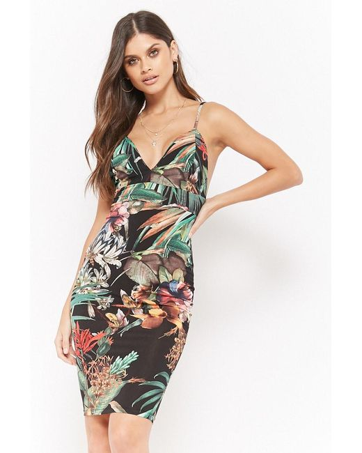 Forever 21 - Black Floral Tropic Cami Dress - Lyst