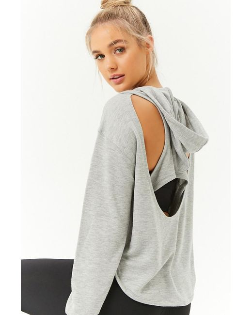 Forever 21 - Gray Active Hooded Top - Lyst