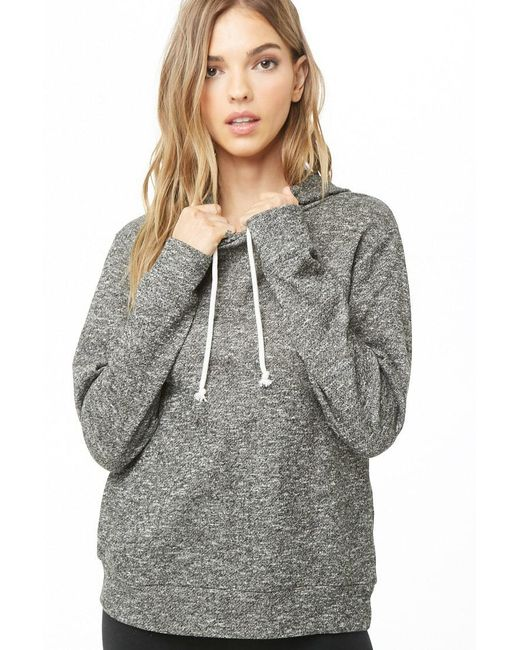 Forever 21 - Gray Women's French Terry Hoodie - Lyst