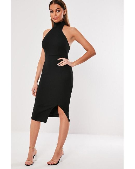Missguided - Black Open-back Dress At - Lyst