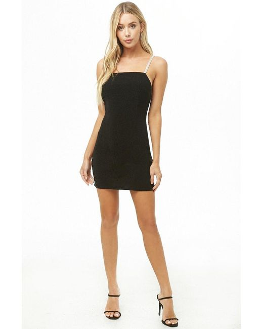 ed91440eb2e Forever 21 - Black Jeweled-strap Mini Dress - Lyst ...