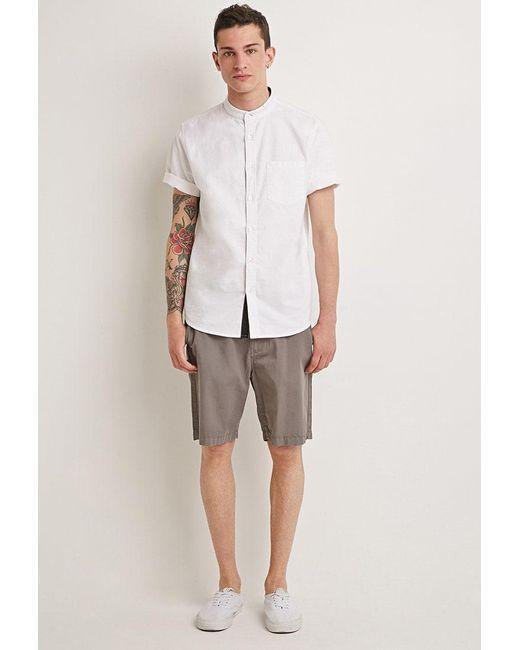 Forever 21 - Gray Cotton Drawstring Shorts for Men - Lyst
