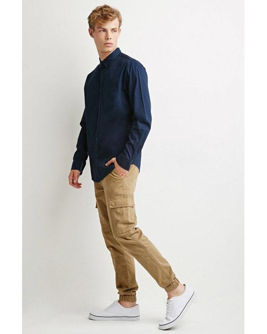 Forever 21 - Blue Classic Buttoned Shirt for Men - Lyst