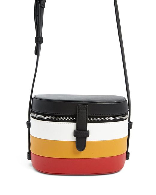 Forever 21 - Black Colorblock Faux Leather Crossbody - Lyst