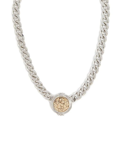 Forever 21 - Metallic Etched Angel Chain Necklace - Lyst