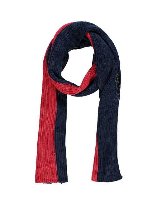 Forever 21 - Blue Ribbed Colorblock Oblong Scarf - Lyst