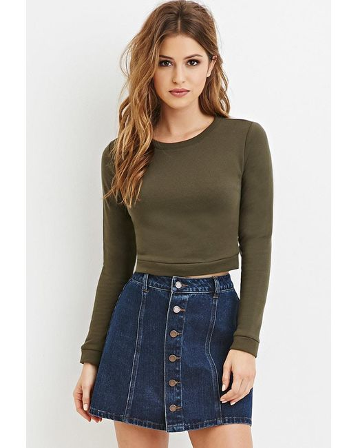 FOREVER21 - Green Cotton-blend Sweater - Lyst