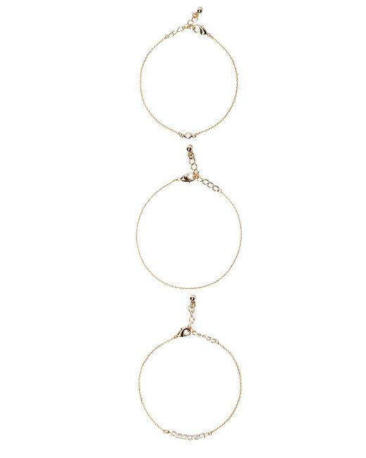 Forever 21   Metallic Rhinestone Bracelet Set   Lyst