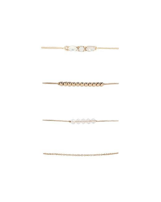 Forever 21 - Metallic Assorted Charm Bracelet Set - Lyst