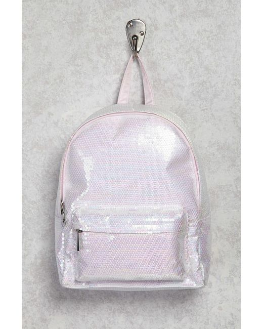 Forever 21 - Pink Sequin Zip Backpack - Lyst