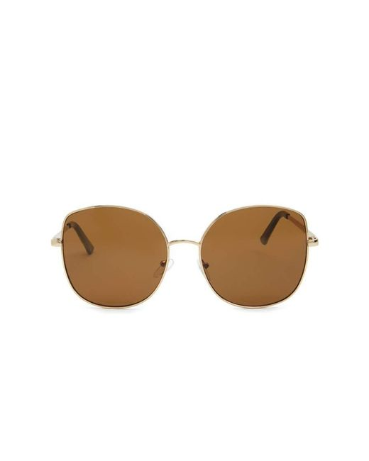 Forever 21 | Brown Metal Square Sunglasses | Lyst