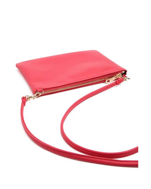 Forever 21 | Pink Textured Faux Leather Crossbody Bag | Lyst