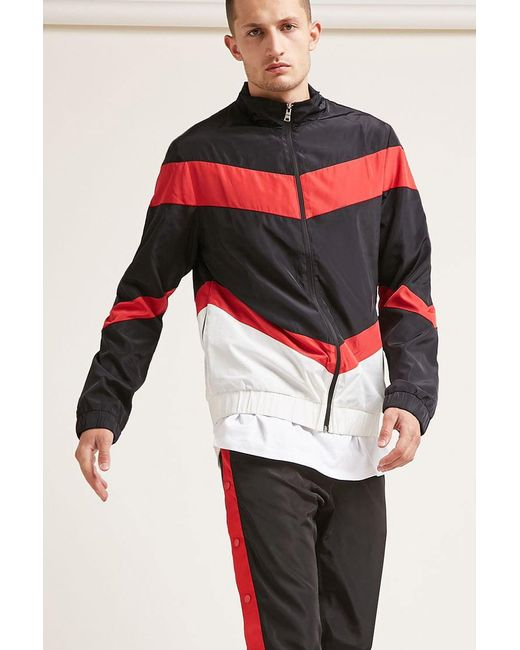 Forever 21 | Multicolor Colorblock Zip-front Windbreaker for Men | Lyst